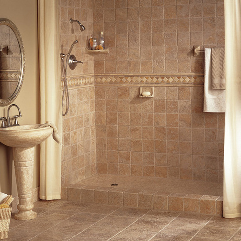 dressing up the tile in your bathroom shower is an easy and fun way to